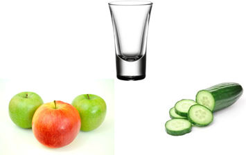 apple and cucumber shot