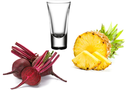 Beetroot and Pineapple Juice Shot image