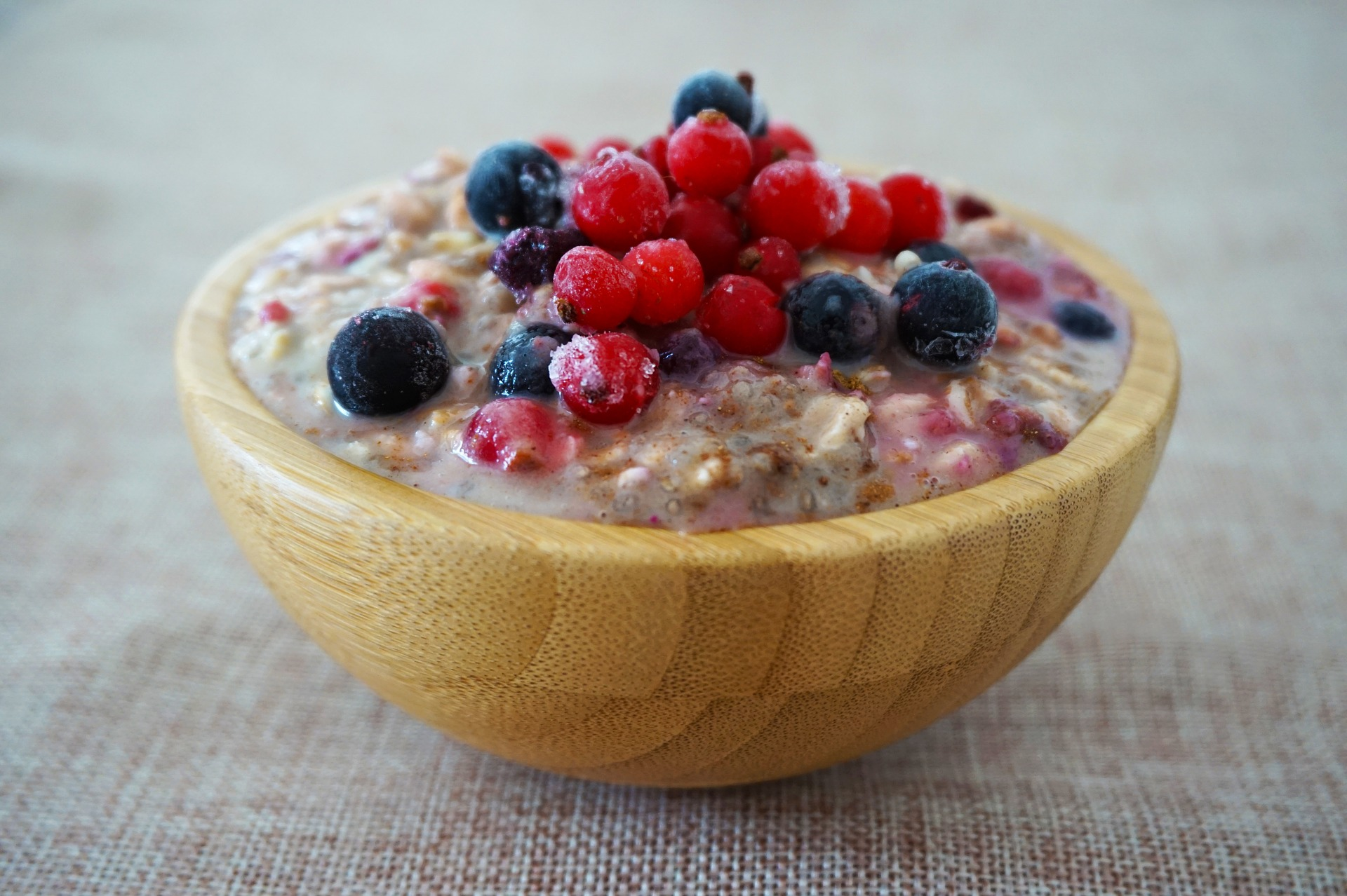 delicious porridge breakfast bowl