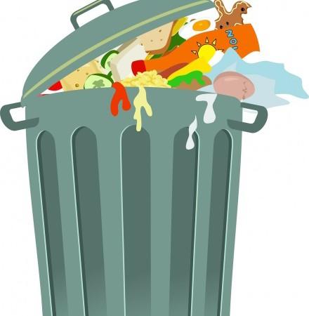 stock graphic of rubbish bin