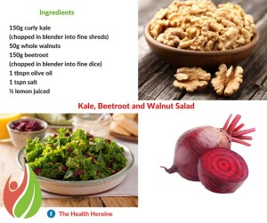 Kale Beetroot and Walnut Salad