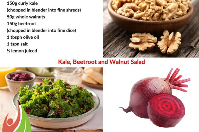 Kale, Beetroot and Walnut Salad