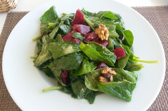 walnut and beetroot salad