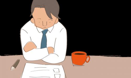 businessman sad