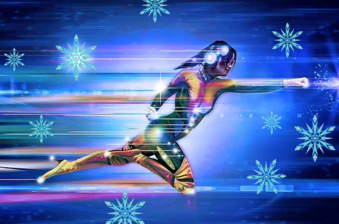 super woman graphic speed