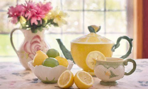 lemon design teas set