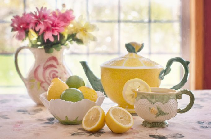 lemon design teas set