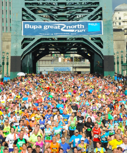 great north run tyne bridge image
